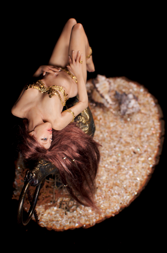ooak Gypsy Genie polymer clay (aerial view) by incantostudios