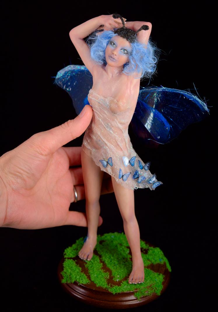 Ooak Little Blue by Carla Goncalves Incantostudios by incantostudios