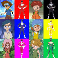 Digimon MMPR (Season 1) by PinkRangerFan