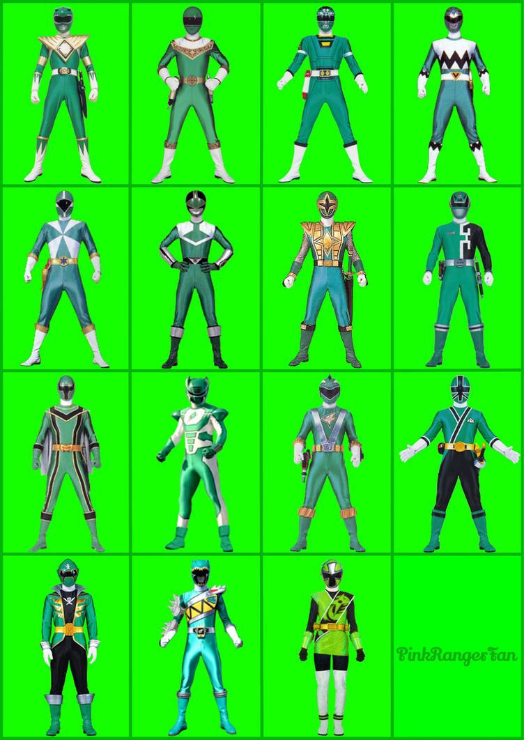 Green Power Rangers By PinkRangerFan On DeviantArt