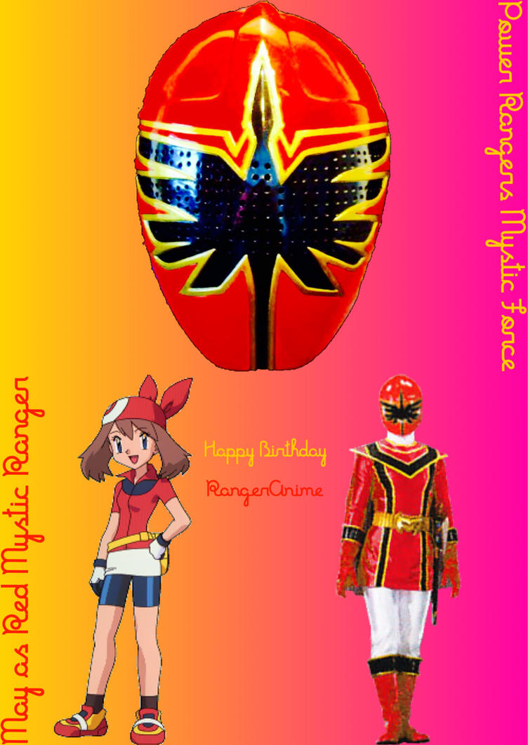 May as Red Mystic Ranger (Gift for Rangeranime) by PinkRangerFan