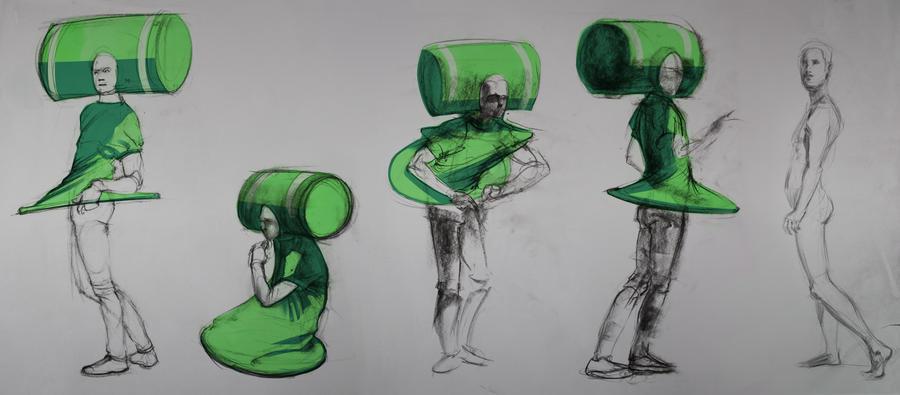 Katamari life drawing session by JakeKalbhenn on DeviantArt