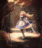Elf warrior by Zarnero