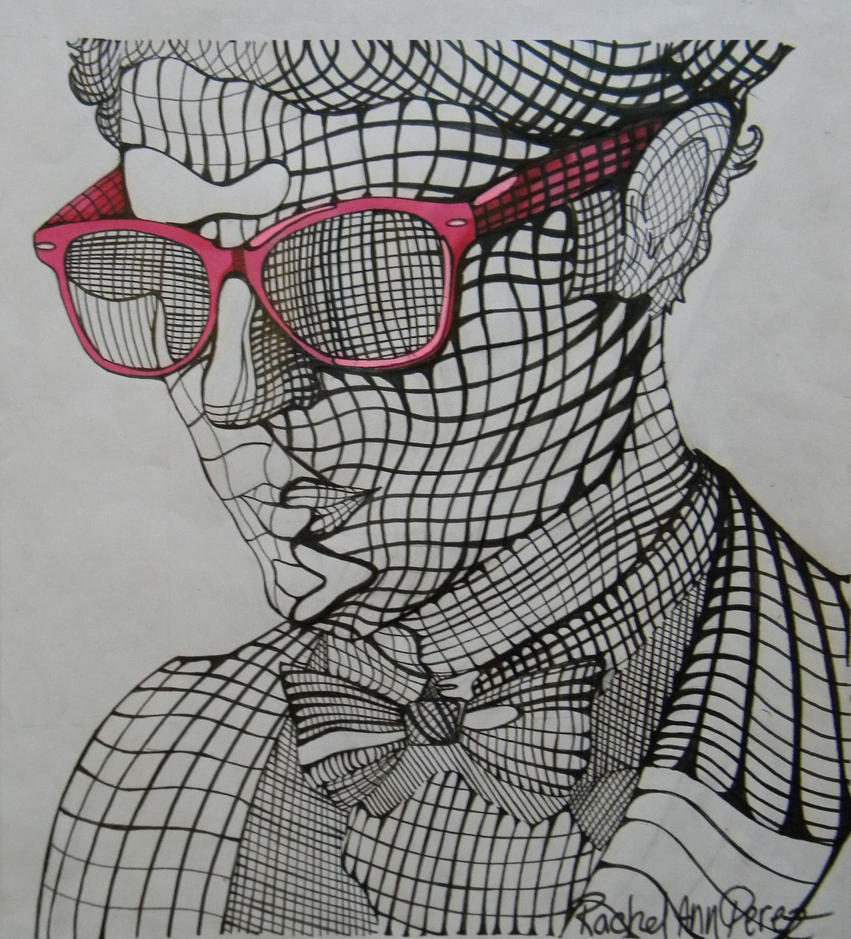 Drawing Lines With C : Darren criss cross contour by paranoid melodies on deviantart
