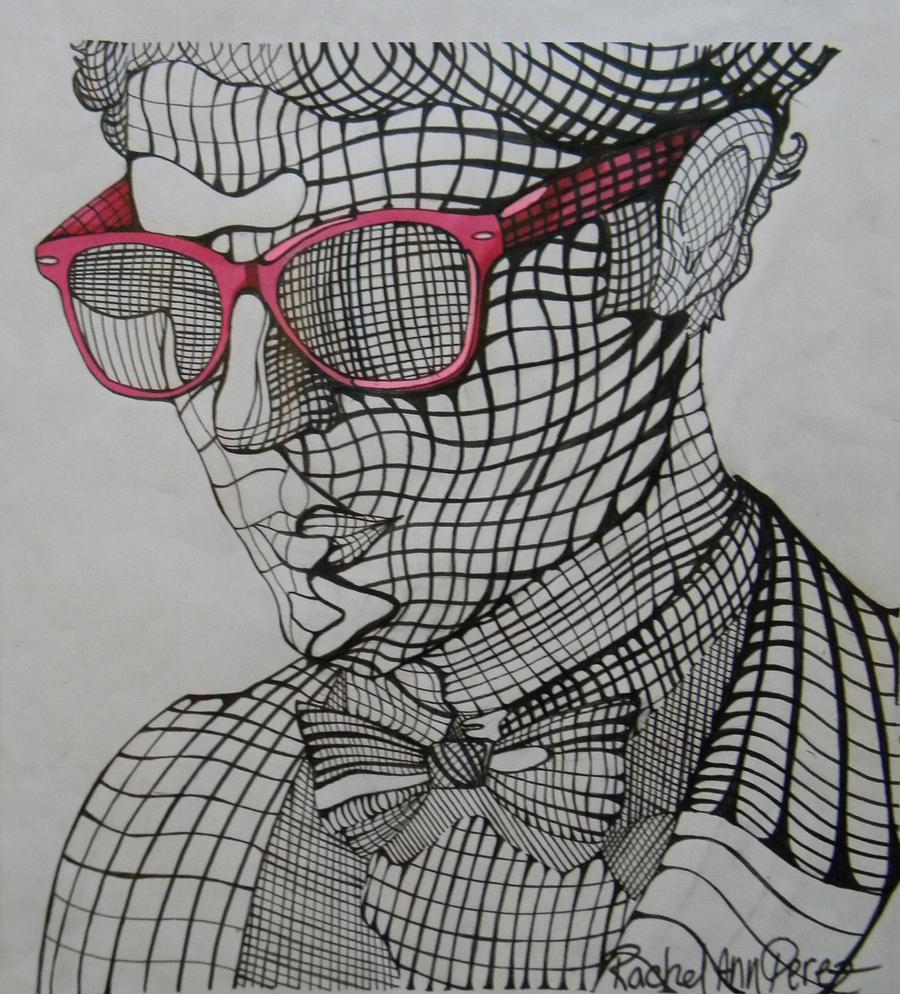 Cross Contour Line Drawing Face : Darren criss cross contour by paranoid melodies on deviantart