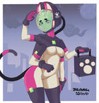 Space Cat Delivery Girl #2