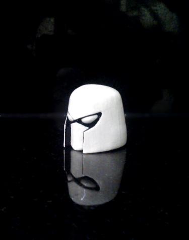 Cyborg Space Barbariab Helmet Left by BenSpencer