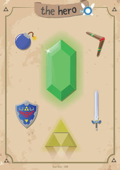 The Hero - Zelda Inspired Poster