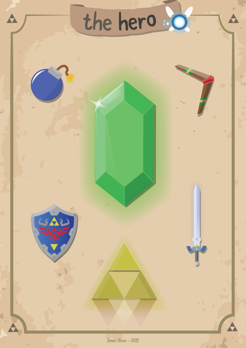 The Hero - Zelda Inspired Poster