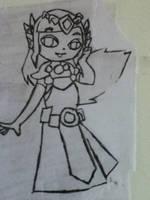 LoZ Art 4- Zelda by Loneshadowlynx