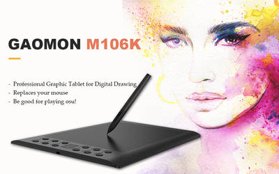 GAOMON M106K Pen Tablet by Gaomonpentablet