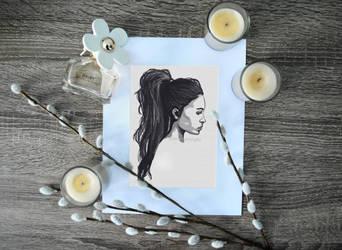 Digital Portrait Illustration by lynetteenright