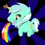 Puking Pony button design