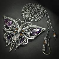 Purple Emperor - necklace 2 by BartoszCiba