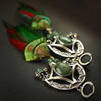 Quetzal - earrings 3 by BartoszCiba