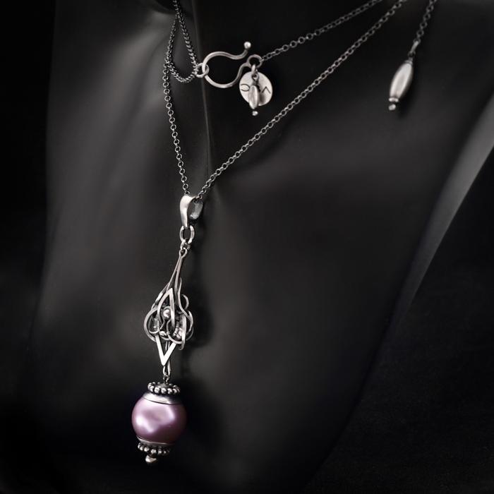 Marie Antoinette Lavande - necklace 2 by BartoszCiba