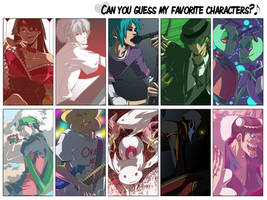 That Favorite Characters Thing