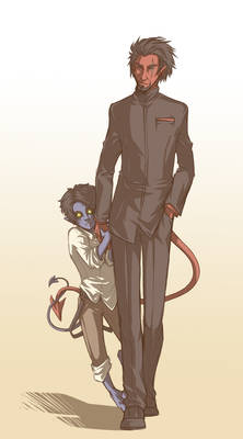 Azazel+Kurt FATHER'S DAY LOL
