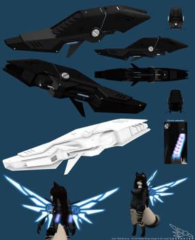 Zeon RS-09 Mecha Wings 3D model