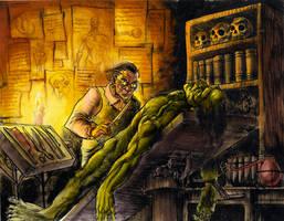Frankenstein panel 1 by ZombPunk