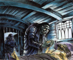 Frankenstein panel 3 by ZombPunk