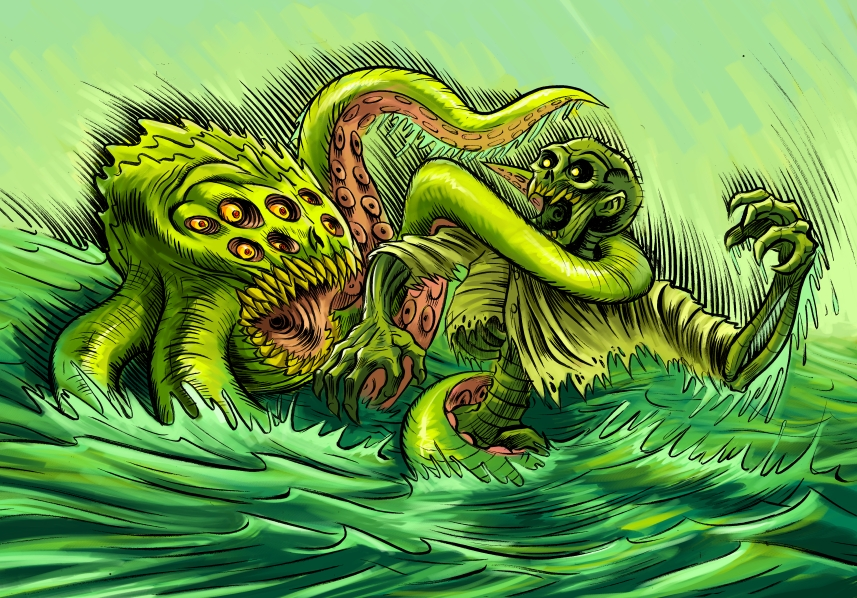 Monster Battle by ZombPunk