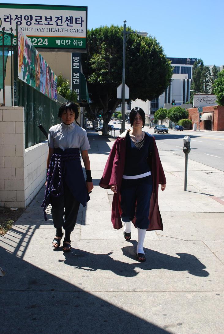Sasuke and Edo Tensei Itachi pounding the pavement by miss-a-r-t