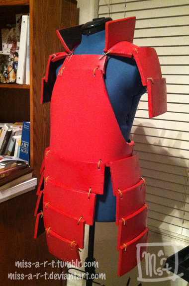 Red Madara Armor by miss-a-r-t