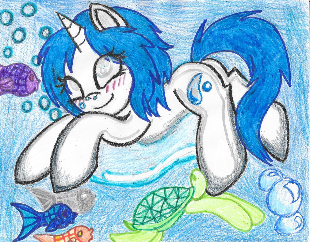 Sea Creatures and Bubbles by Phoenix-Skywriter