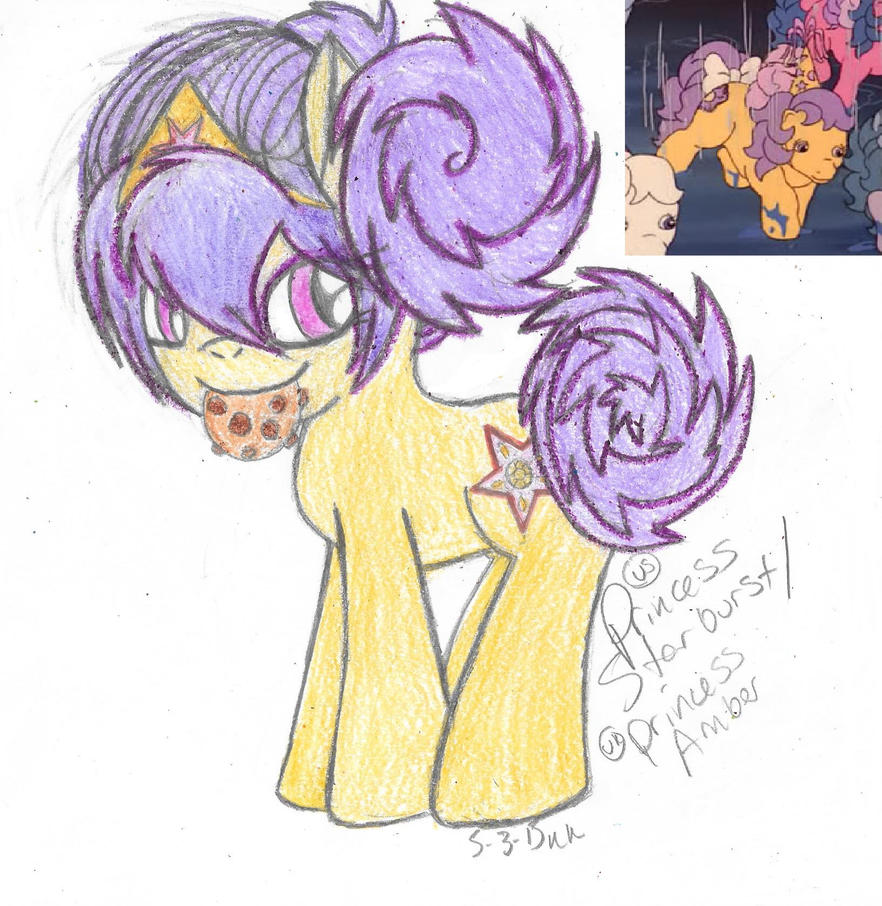 My Little Flashback- Princess Starburst/Amber (G1) by Phoenix-Skywriter