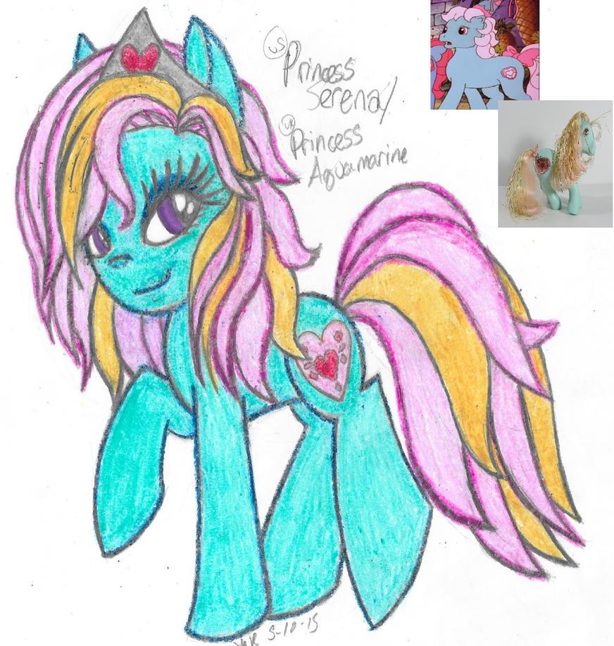 ML Flashback- Princess Serena/Aquamarine (G1) by Phoenix-Skywriter