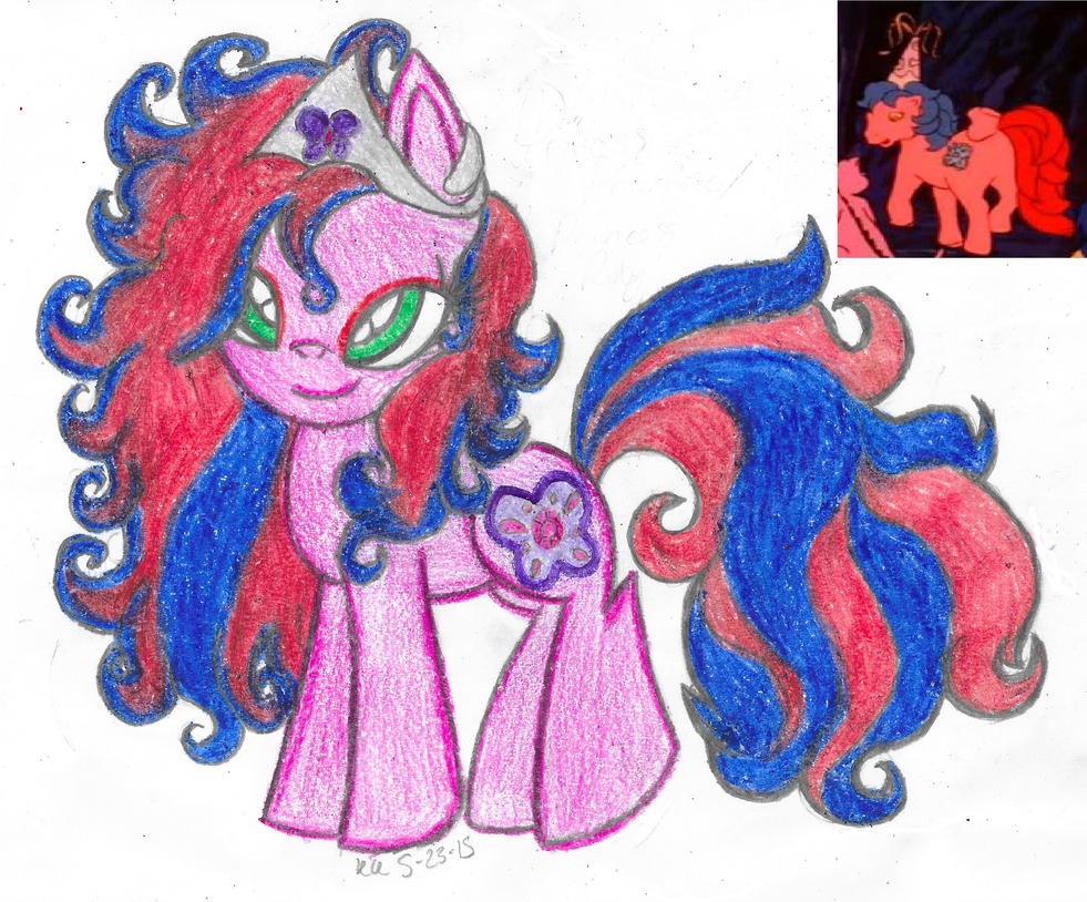 My Little Flashback- Princess Primrose/Ruby (G1) by Phoenix-Skywriter