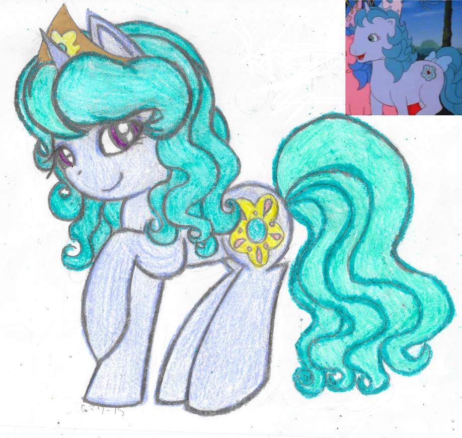 My Little Flashback-Princess Sparkle/Amethyst (G1) by Phoenix-Skywriter