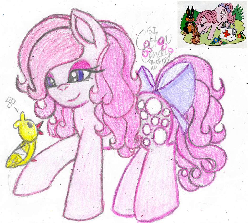 My Little Flashback- Cotton Candy (G1) by Phoenix-Skywriter