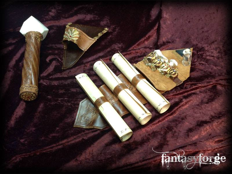 LARP EQUIP: Mage belt accessories III by FantasyForgeLARP