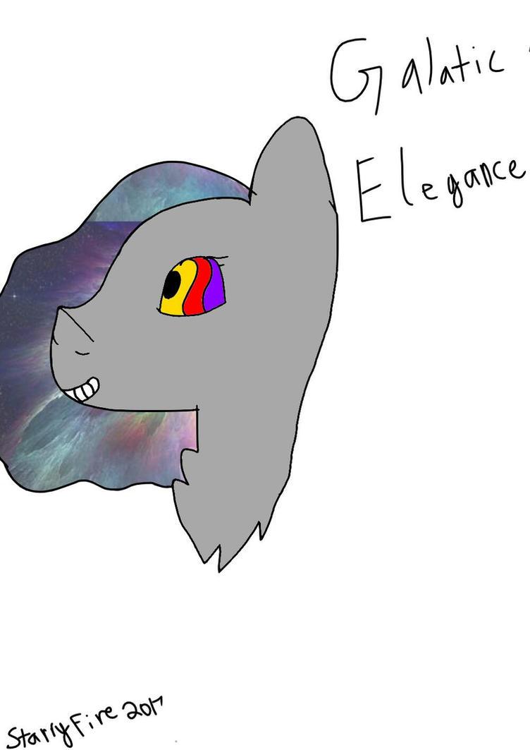 New oc  Galactic Elegance by StarryFiremlp