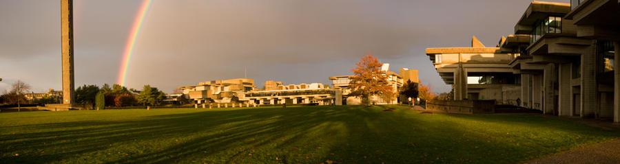 rainbow panorama by Lunem