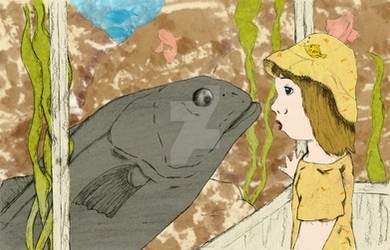 Madeline meets a fish