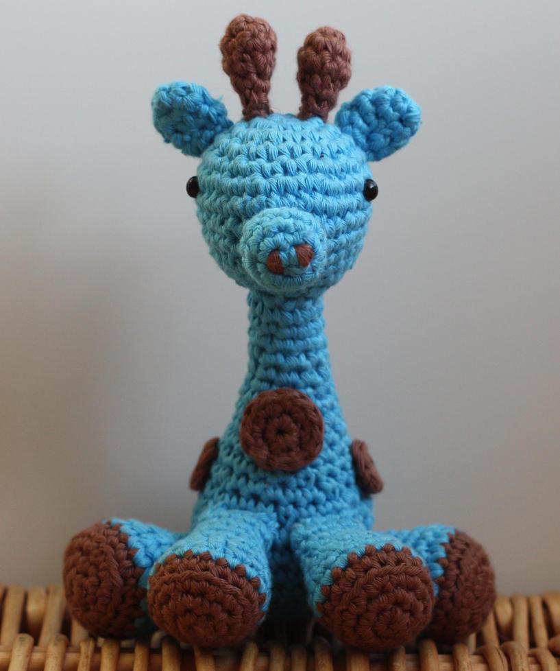 Amigurumi Giraffe Patterns : Blue Giraffe (Crochet -- amigurumi) by matandhelen on ...