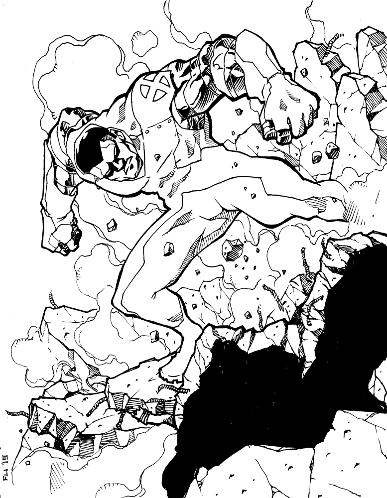 Colossus - Impact Crater (Inks) by Daystorm