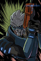 Mass Effect: Garrus at the Ready