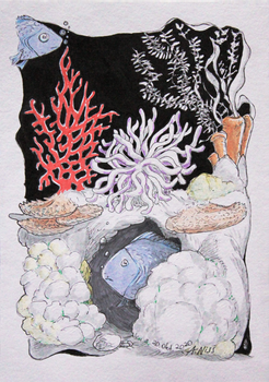 Inktober 2020 Day 20 - coral