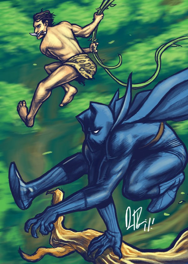 Black panther meets Tarzan... by dio-03