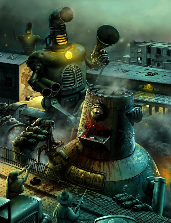 Retro Robots by Hofarts