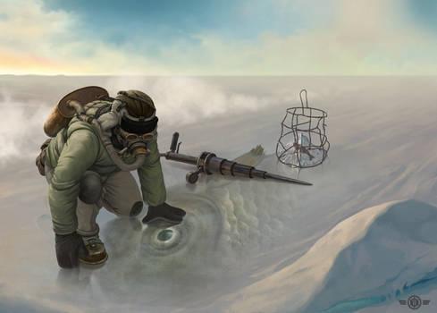 Post-apocalyptic fisherman
