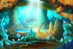 Stalactite cave background