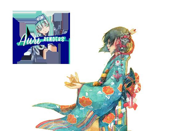 Kimono Girl - Render by Carameldanssen
