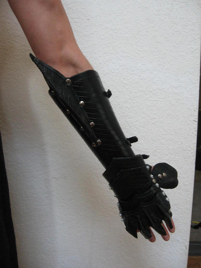 Leather gauntlet by JordanKerbow