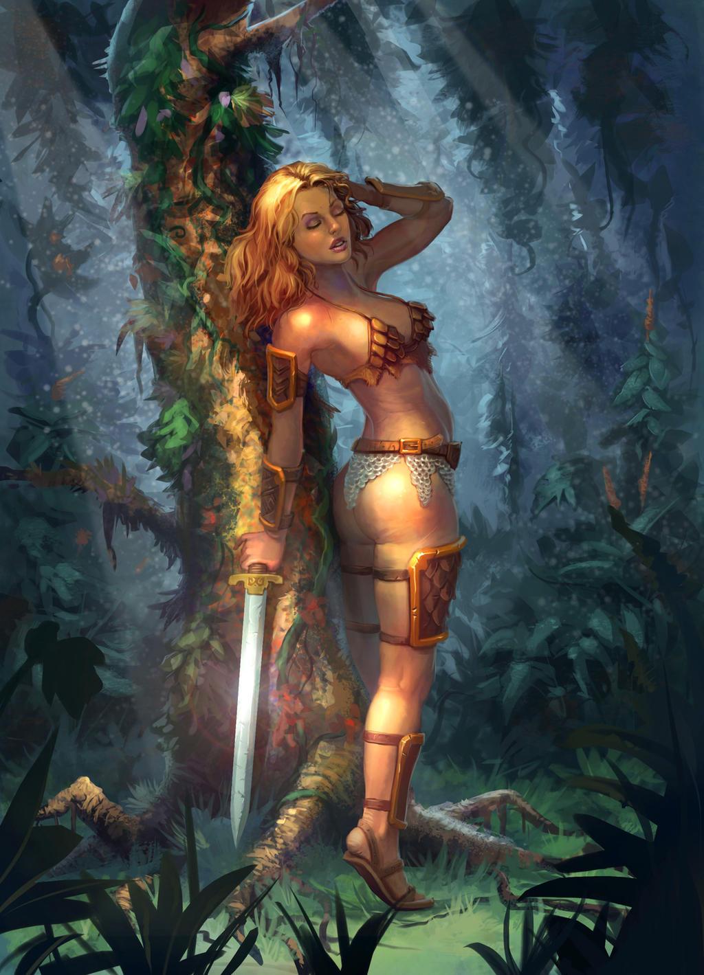 Warrior woman by JordanKerbow
