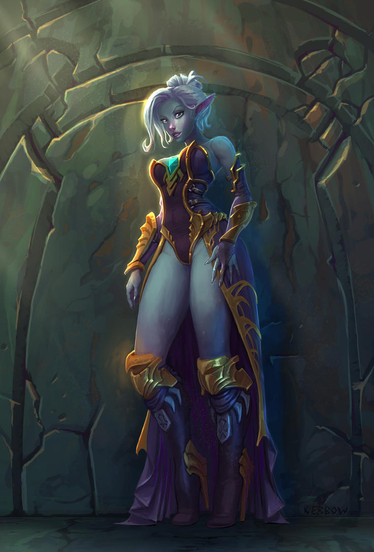 Drow Sorceress by JordanKerbow